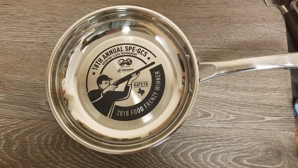 Personalized Pan - Engraved Pan - Custom Pan - Engraved Pot - Custom Pot - Personalized Pot - Engrave It Houston