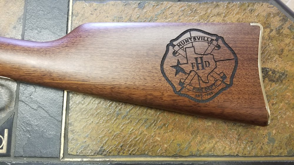 Copy of Personalized Rifle Stock - Engraved Rifle Stock - Personalized Firearms - Firearm Engraving - Firearm Engraving Projects - Engrave It houston