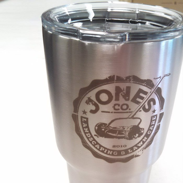 Engraved Stainless Steel Yeti