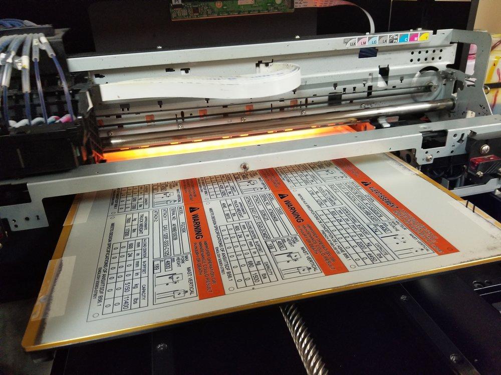Industrial Plates - Industrial Panels - Industrial Tags - Industrial Printing - Printed Warning Plates - Printed Warning Tags