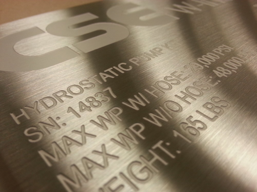 Engraved Tags - Industrial Tags - Engraved Stainless Steel Tags - Stainless Steel Plates - Industrial Tags - Industrial Projects - Engrave IT houston