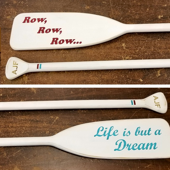 Personalized Oars - Personalized Paddles - Custom Oars - Custom Paddles - Decorative Oars - Decorative Paddles - Home Decor - Engrave It houston