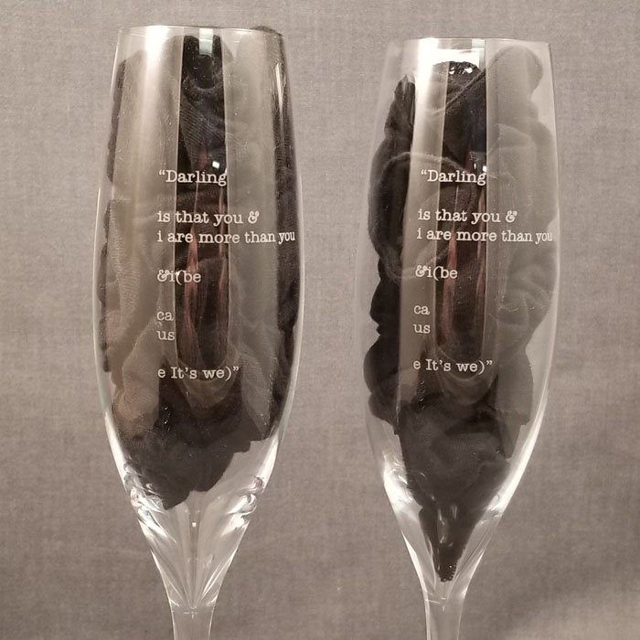 Engraved Drinkware - Engraved Champagne Flutes - Personalized Drinkware - Personalized Champagne Flutes - Personalized Glasses - Engraved Glasses