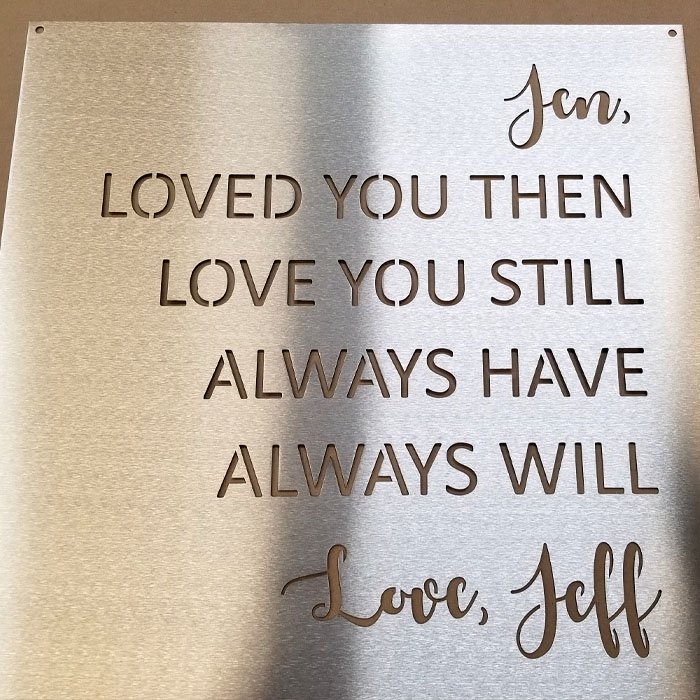 Metal Sign - Metal Wall Art - Stainless Steel Sign - Stainless Steel Wall Art - Engrave It Houston