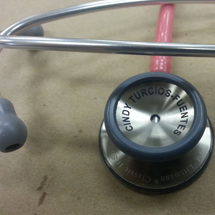 Engraved Stethoscope - Engraved Medical Equipment - Personalized Stethoscope - Engraved Stethoscope - Custom Projects - Engrave It Houston