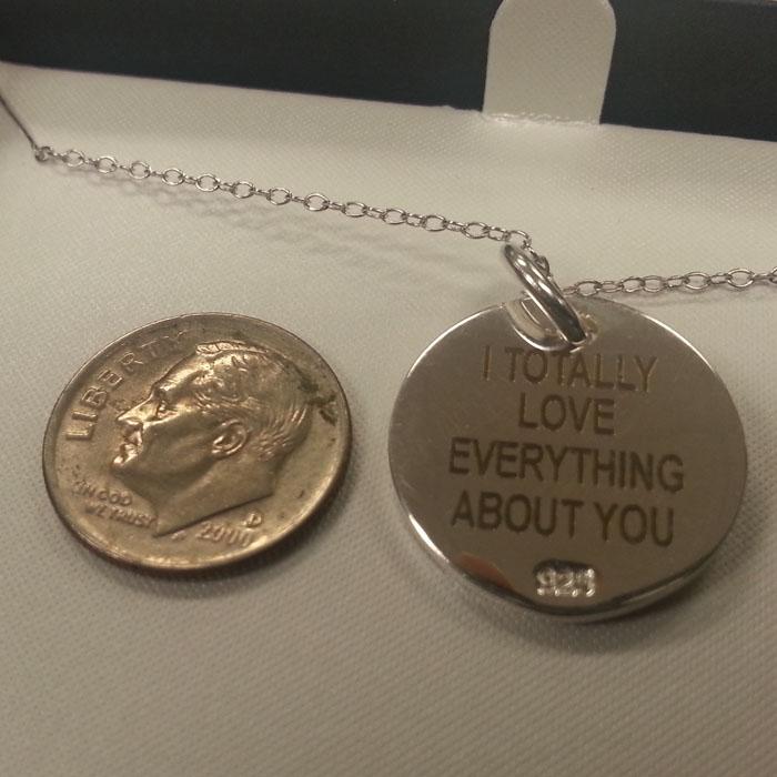 Engraved Necklace - Personalized Necklace - Custom Necklace - Engraved Pendant - Personalized Pendant - Custom Pendant - Engrave It Houston