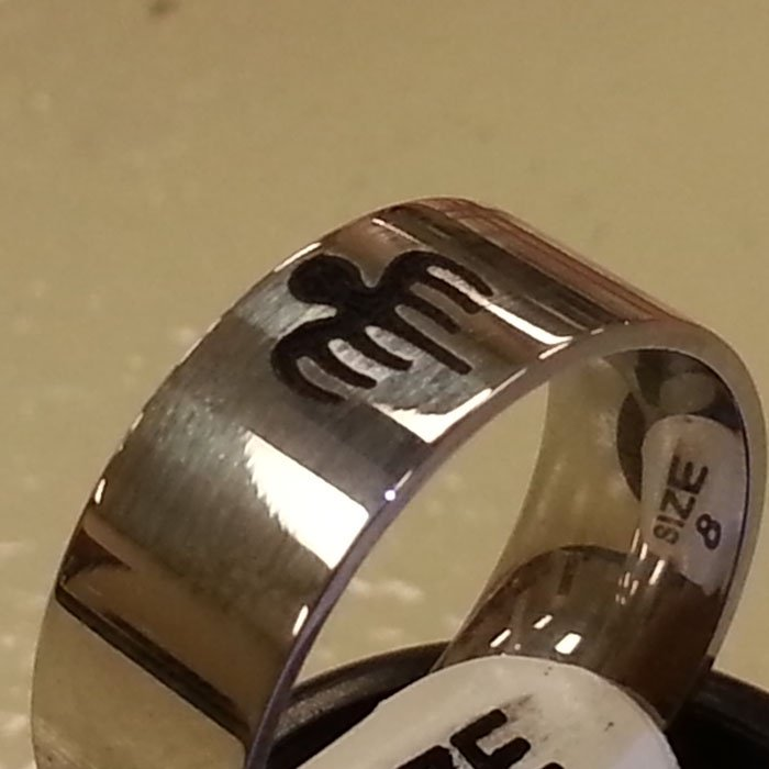 Copy of Engraved Ring - Ring Engraving - Personalized Ring - Custom Ring - Ring Customization - Jewelry Engraving - Jewelry Customization - Jewelry Personalization - Engrave It Houston