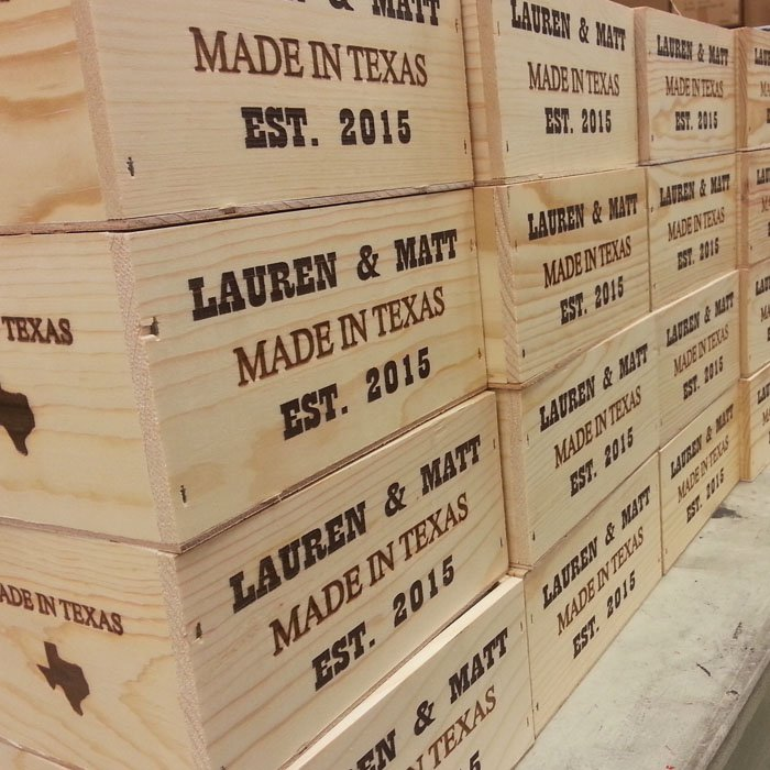 Wood Engraving - Personalized Boxes - Custom Wood Boxes - Engraved Wood Boxes - Engraved Wood Crates - Custom Wood Crates - Personalized Wood Crates - Engrave It Houston