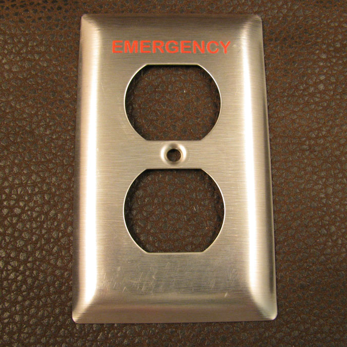 Copy of Outlet Covers - Industrial Outlet Covers - Custom Outlet Covers - Printed Outlet Covers - Labeled Outlet Covers