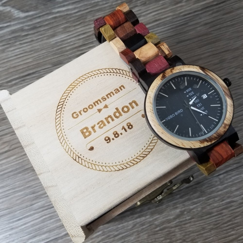 Copy of Engraved Watch - Personalized Watch - Groomsman Gifts - Personalized Groomsman Gifts - Custom Groomsman Gifts - Engraved Groomsman Gifts - Custom Projects - Engrave It Houston