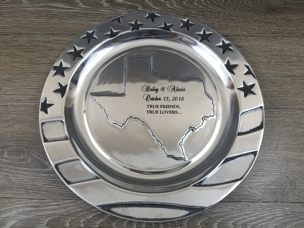 Copy of Engraved Platter - Personalized Platter - Engraved Serving Dish - Engraved Tray - Personalized Serving Dish - Personalized Tray - Custom Projects - Engrave It Houston