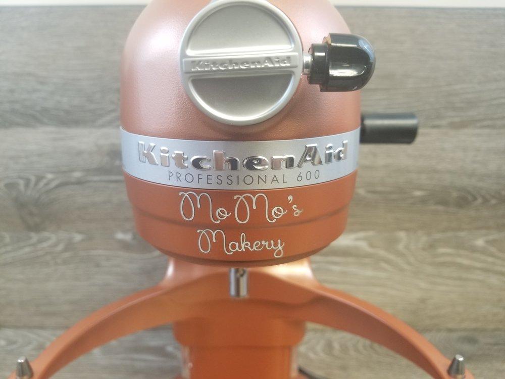 Engraved KitchenAid Mixer - Personalized KitchenAid Mixer - Engraved Kitchen Equipment - Personalized Kitchen Equipment - Custom Projects - Engrave It Houston