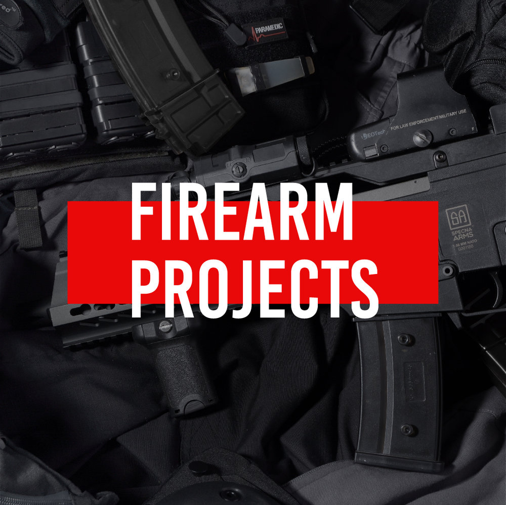 GET YOUR FREE FIREARM PROJECT QUOTE - We continue to be a leader in the firearm personalization community. Our elite technicians and design team make customizing your firearm a pleasure from start to finish. Firearm projects are by appointment only and COMPLETED WHILE YOU WAIT! We also offer NFA and NFA Trust engravings in compliance with ATF regulations.