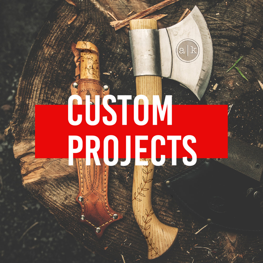 Custom Projects - We excel at overcoming challenges. Which means we love custom projects. Bring in the item or items you want personalized, and our team of highly skilled in-house technicians and designers will help guide you through the process of making your vision a reality. We even engrave and print on specialty items that other companies can't or won't.