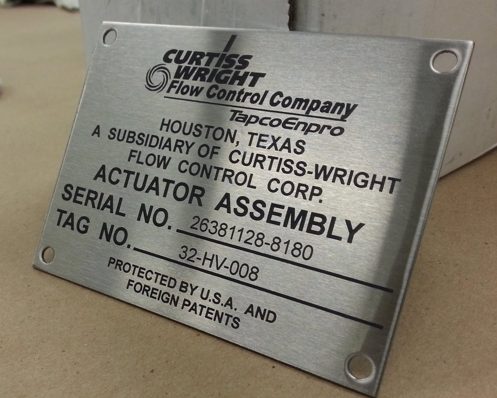 Stainless Steel Plates - Custom stainless steel tags in almost any size and specification. Fabricated, laser engraved, marked, etched, or direct printed according to your technical specs.