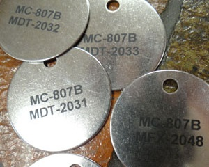 Valve Tags / labels - Custom valve tags, created from a variety of different materials including stainless steel, aluminum, and plastic. Identify valves, pipes, and lines with a high quality long lasting engraving, marking, etching, or direct print.