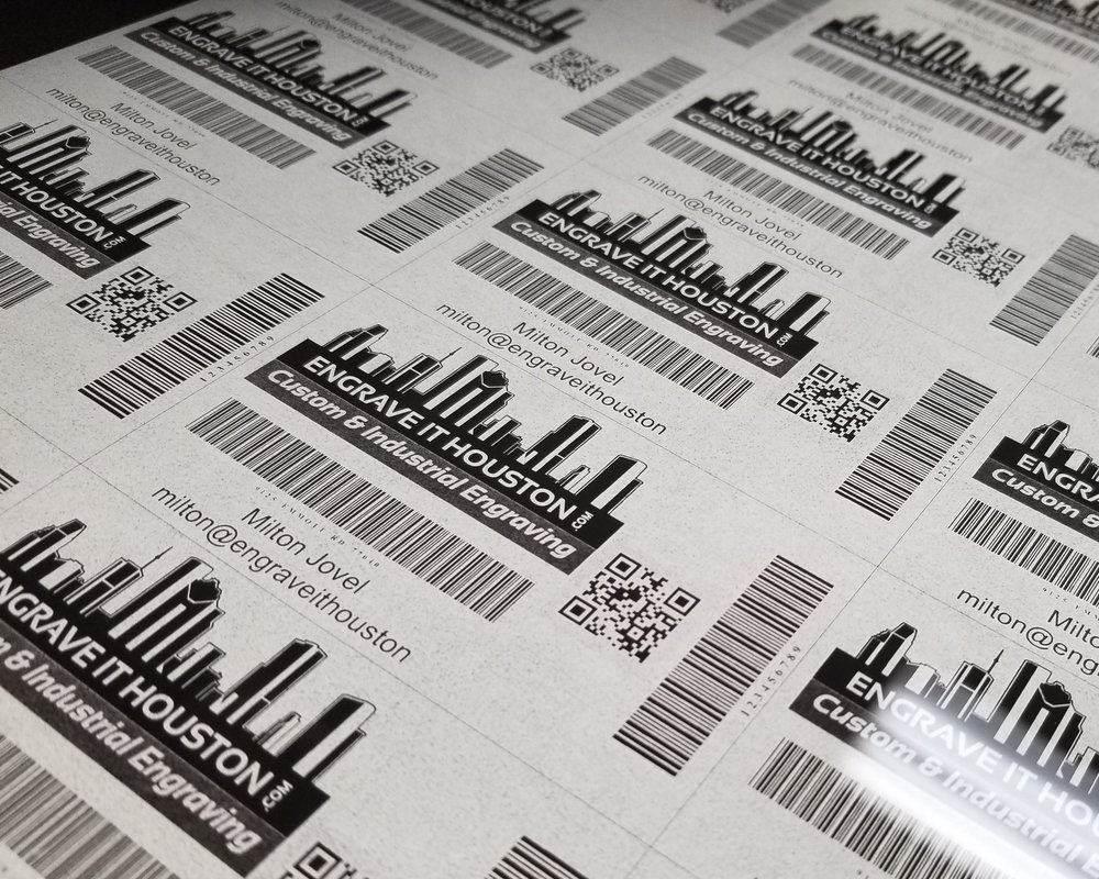 Bar Codes - Add fully scan-able Bar Codes to any part, piece, or material. Laser engraving, marking, etching, or direct printing is available based on the specifications of the project.