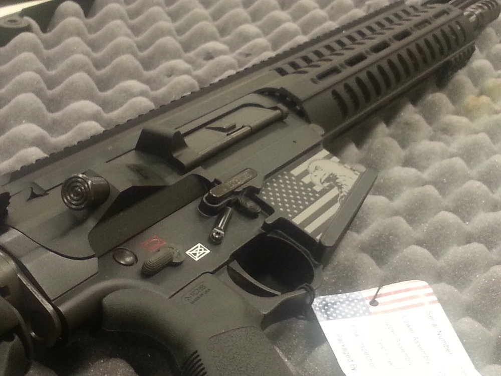 Custom Engraved Assault Rifle - Personalized Assault Rifle Engraving - Firearm Projects from Engrave It Houston