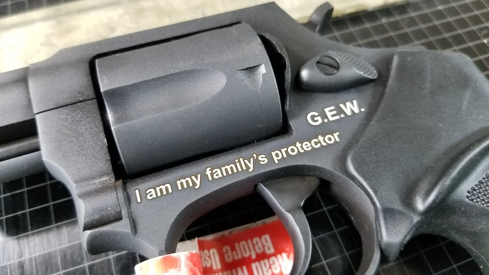 Custom Engraved Handgun - Personalized Handgun Engraving - Firearm Projects from Engrave It Houston