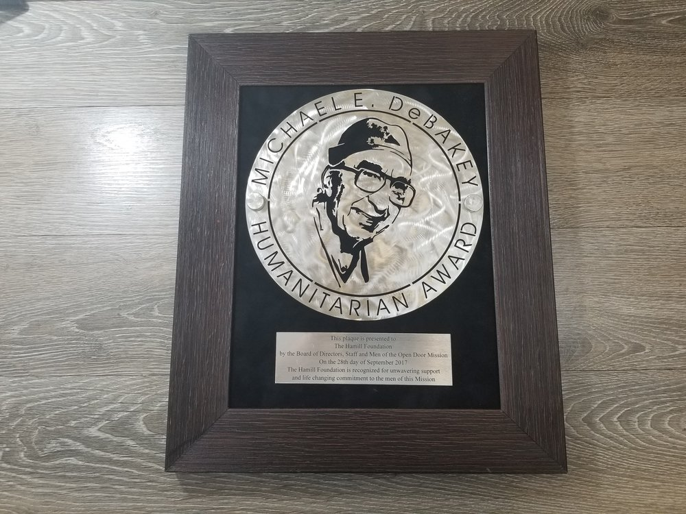 Custom Branded Laser Cut Award - Custom Awards - Corporate Identity Projects - Branding Projects from Engrave It Houston