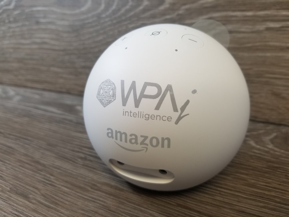 Branded Amazon Echo Spot - Branded Smart Speakers - Branded Marketing Giveaways - Branded Event Swag - Branded Gifts - Corporate Identity Projects - Branding Projects from Engrave It Houston