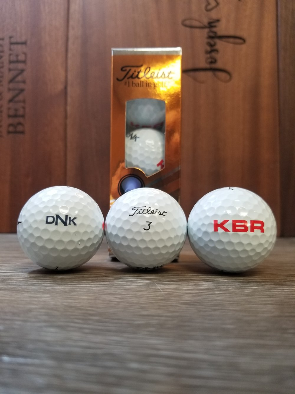 Branded Golf Balls - Branded Marketing Giveaways - Branded Marketing Materials - Branded Event Swag - Corporate Identity Projects - Branding Projects from Engrave It Houston