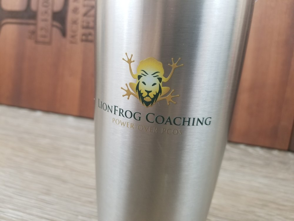 Branded Stainless Steel Tumbler - Branded Marketing Giveaways - Branded Marketing Material - Branded Event Swag - Corporate Identity Projects - Branding Projects from Engrave It Houston