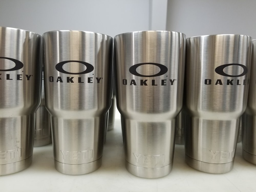 Branded Yeti Tumblers - Branded Marketing Giveaways - Branded Marketing Material - Branded Event Swag - Corporate Identity Projects - Branding Projects from Engrave It Houston