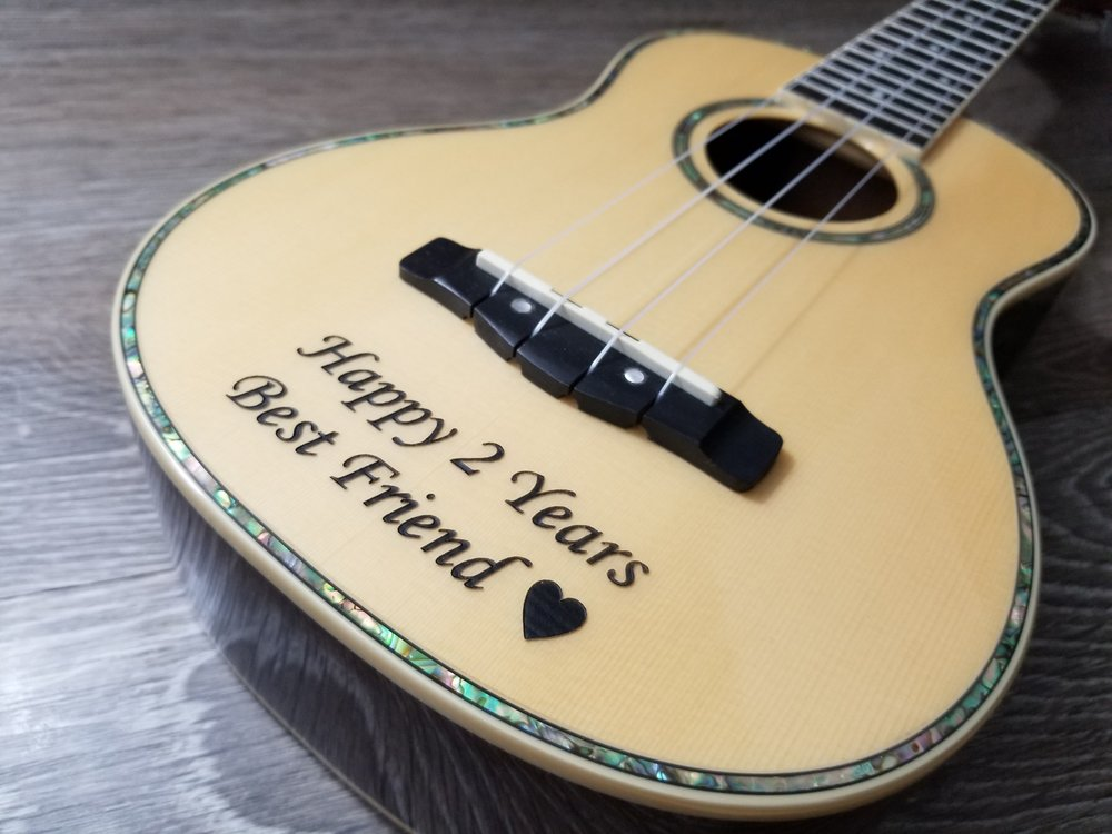 Custom Personalized Guitar - Personalized Instruments - Engraved Guitar - Engraved Instruments - Instrument Customization - Custom Projects from Engrave It Houston