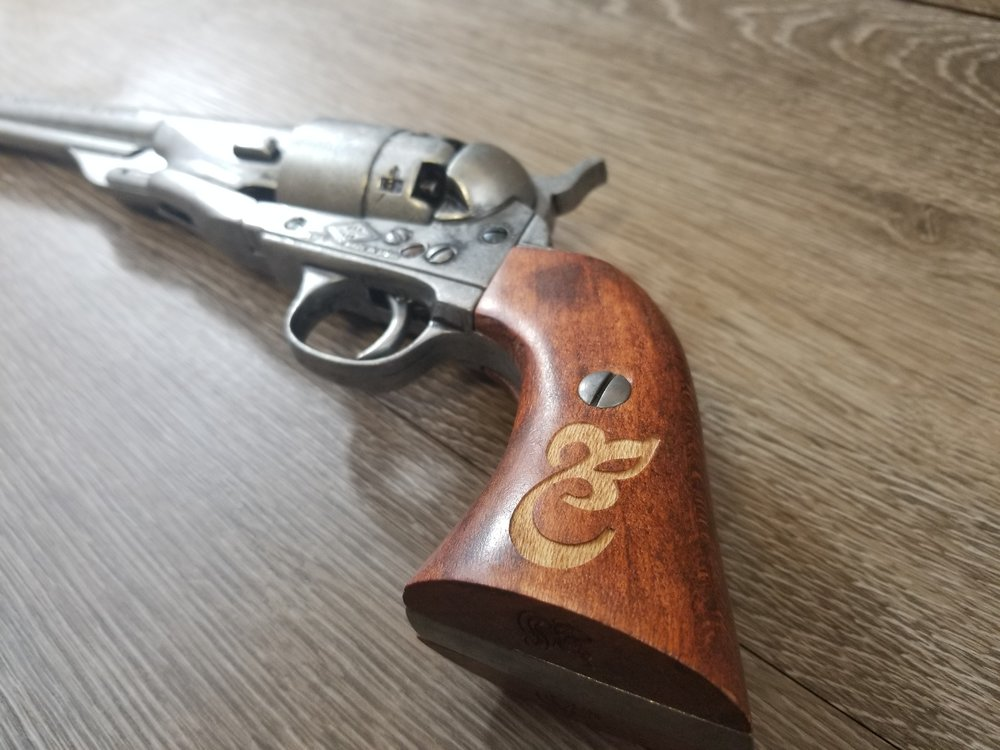 Custom Engraved Pistol Grip - Firearm Projects from Engrave It Houston