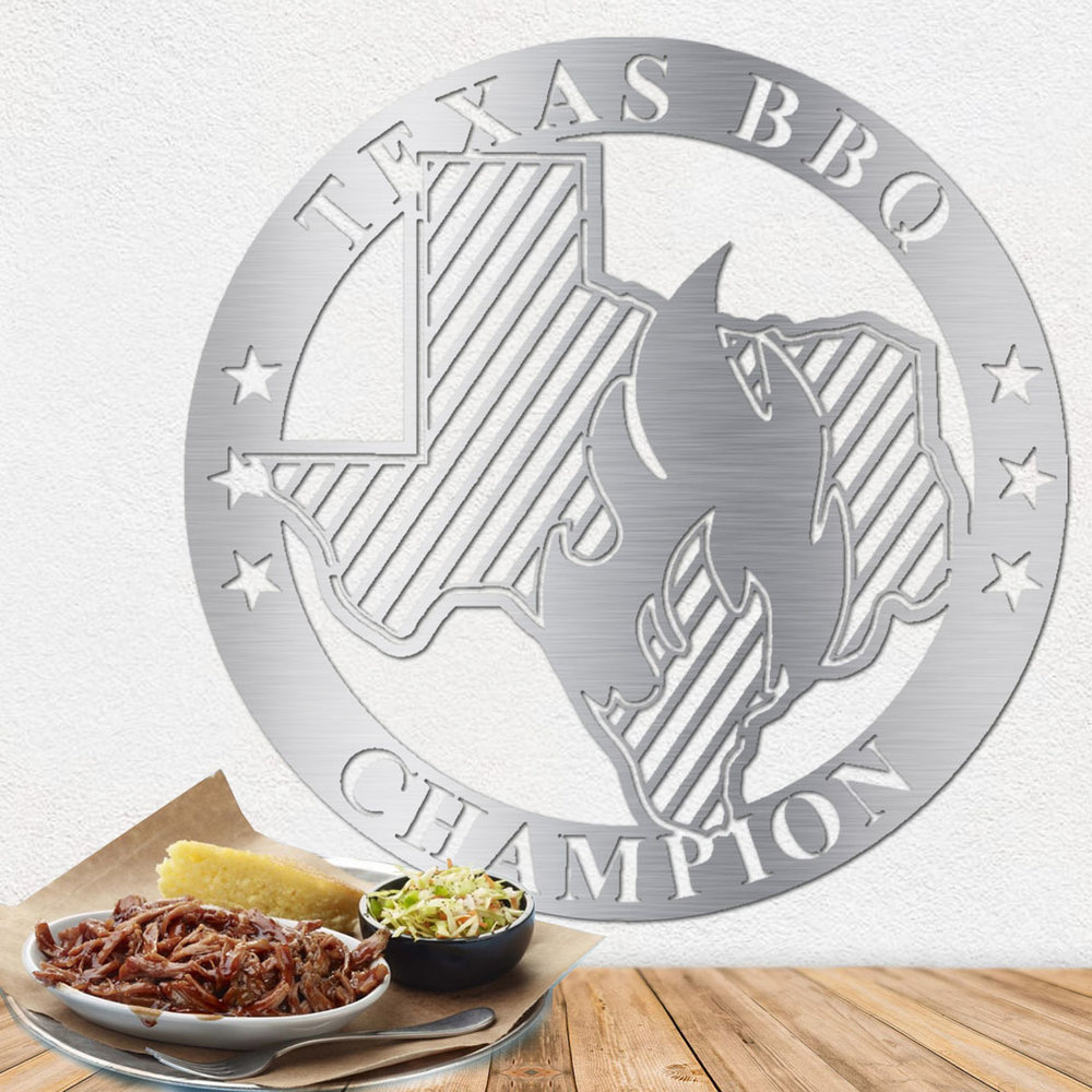 Texas Metal Wall Art - Stainless Steel Wall Art - Metal Art
