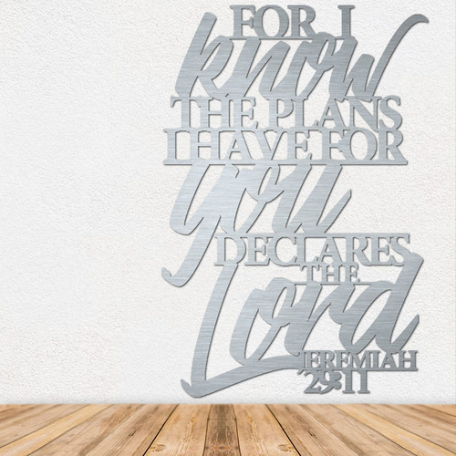 Bible Verse Art - Metal Wall Art - Metal Signs - Stainless Steel Wall Art - Stainless Steel Signs