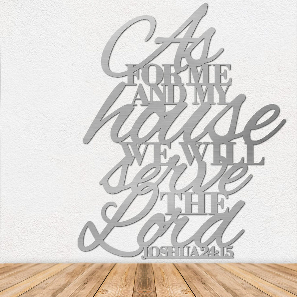 Bible Verse Art - Stainless Steel Wall Art - Metal Wall Art - Stainless Steel Signs - Metal Signs