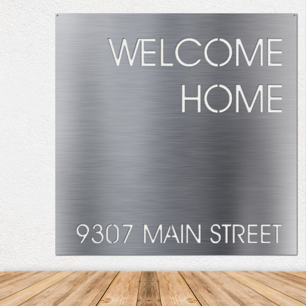 Stainless Steel Wall Art - Metal Wall Art - Stainless Steel Signs - Metal Signs
