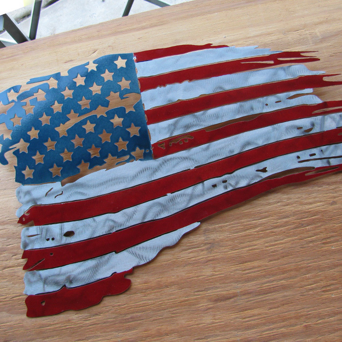 American Flag Metal Wall Art - Patriotic Art - American Flag Art - Metal Wall Art - Stainless Steel Wall Art - Metal Signs - Stainless Steel Signs