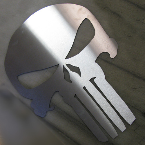 Punisher Skull Metal Wall Art - Metal Wall Art - Stainless Steel Wall Art - Metal Signs - Stainless Steel Signs