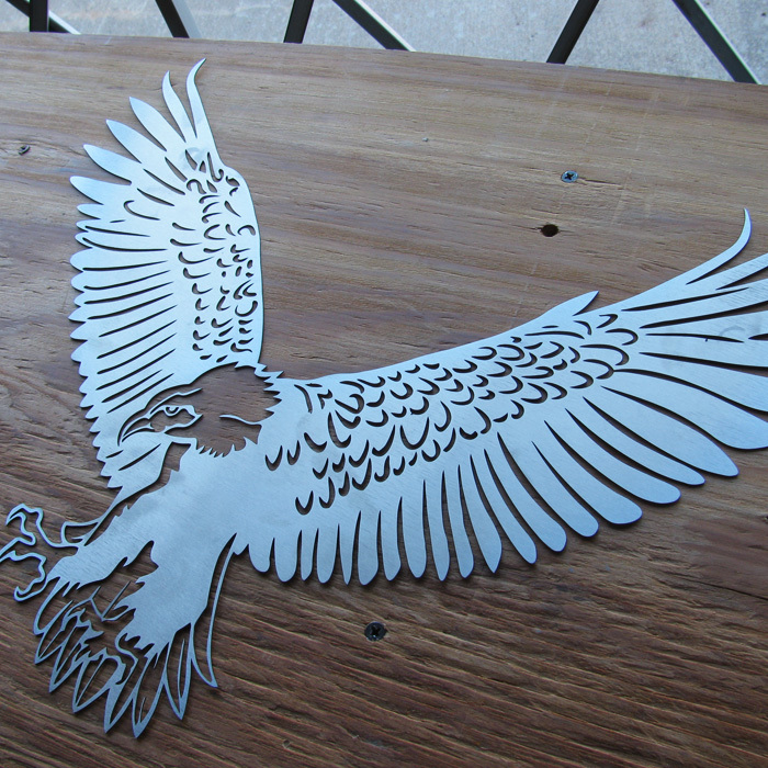 Eagle Metal Wall Art - Stainless Steel Wall Art - Metal Wall Art - Stainless Steel Signs - Metal Signs