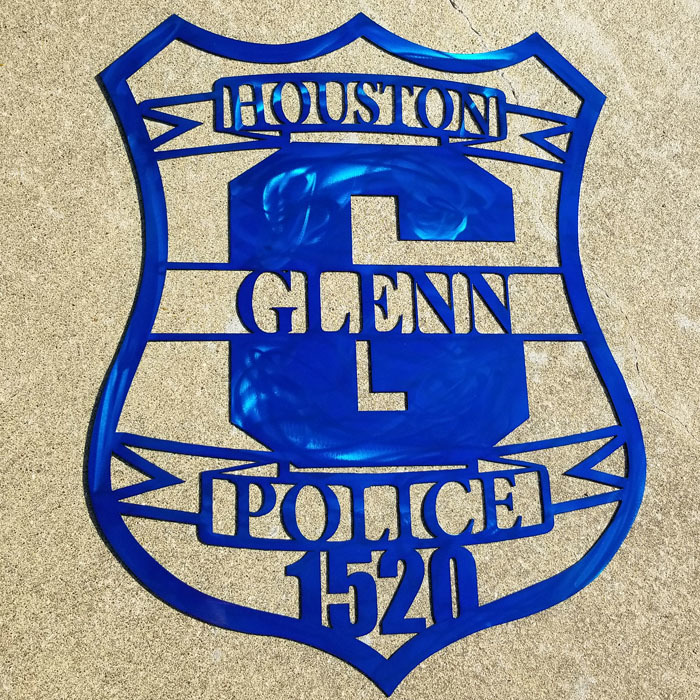 Police Badge Metal Wall Art - Stainless Steel Wall Art - Metal Wall Art - Stainless Steel Signs - Metal Signs