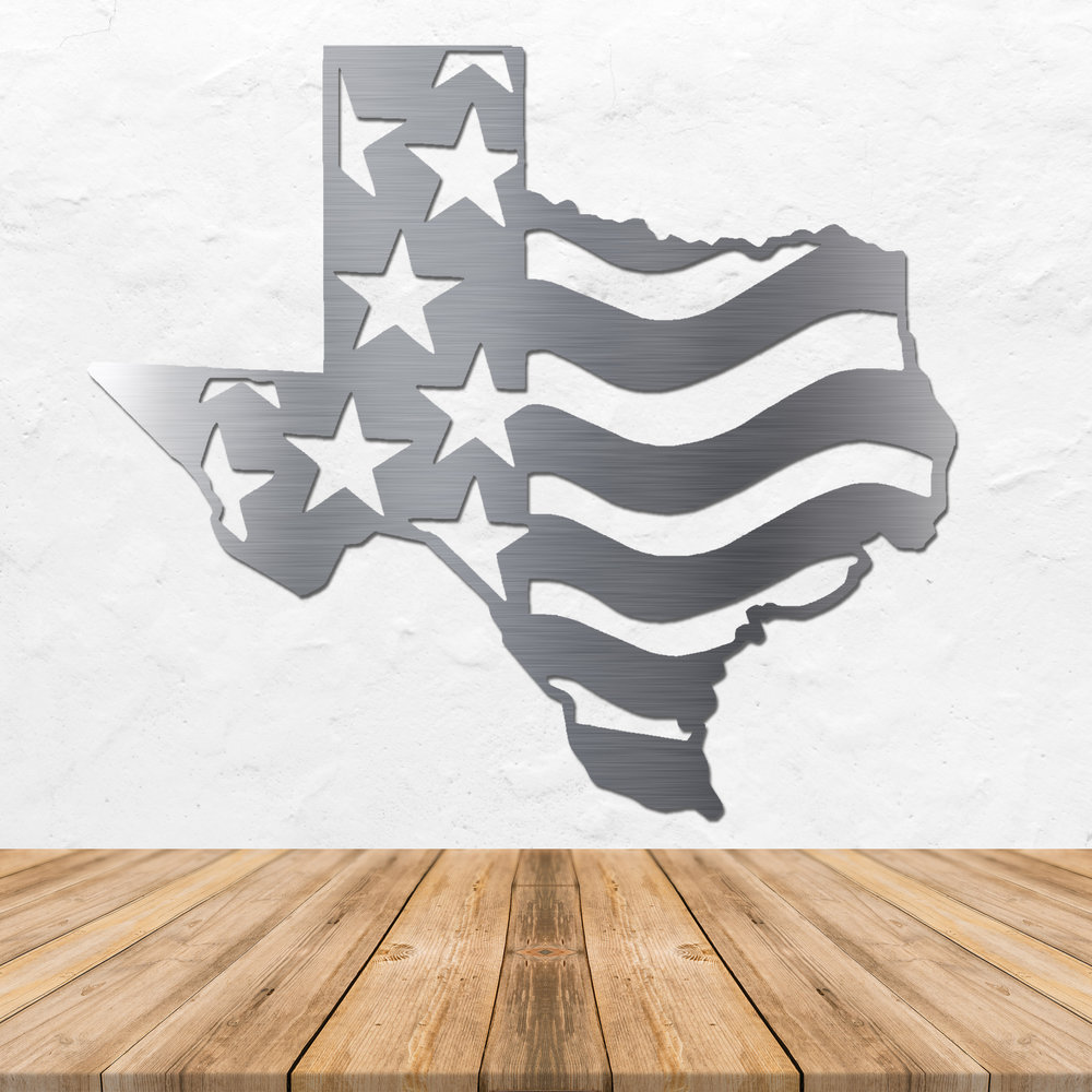 Texas Stainless Steel Art - Metal Wall Art - Stainless Steel Wall Art - Metal Signs - Stainless Steel Signs