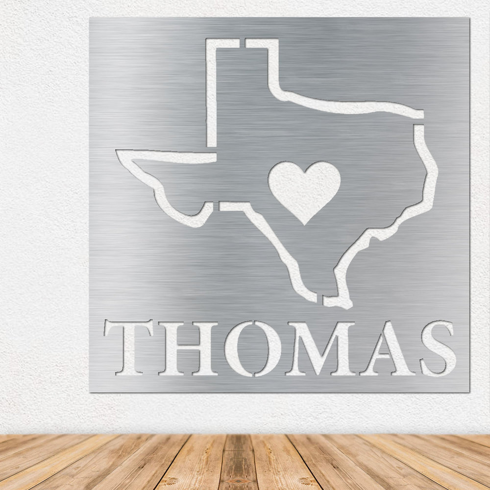 Stainless Steel Wall Art - Metal Wall Art - Texas Wall Art - Stainless Steel Sign - Metal Sign
