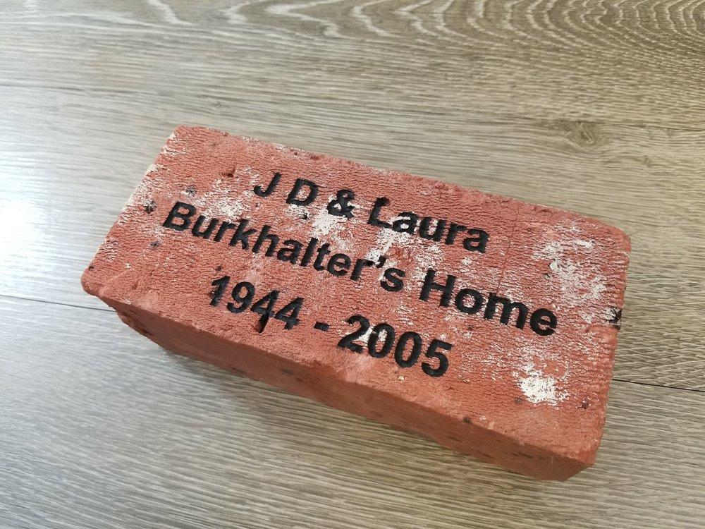 Engraved Brick - Custom Brick - Personalized Brick - Engraved Memorial Brick - Custom Memorial Brick - Personalized Memorial Brick - Engrave It Houston