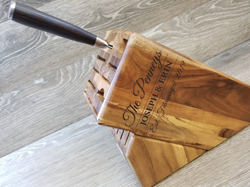 Copy of Engraved Knife Block - Custom Knife Block - Personalized Knife Block - Engraved Kitchen Equipment - Custom Kitchen Equipment