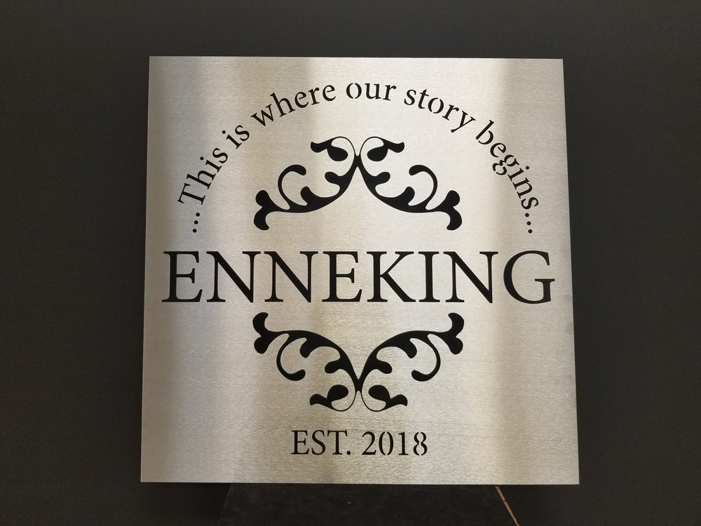 get your custom metal wall art/sign quote - Have your design or text custom laser cut from a variety of available materials including stainless steel, aluminum, and more!