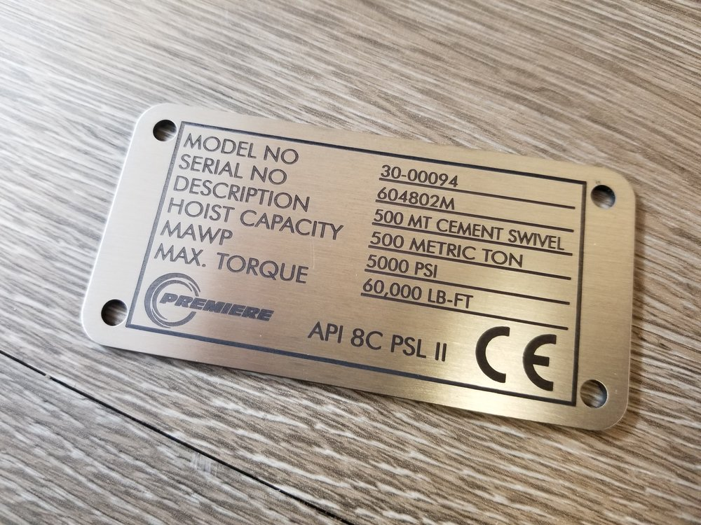 Stainless Steel Tags - Custom Engraved Stainless Steel Tags - Custom Engraved Industrial Stainless Steel Tags - Metal Tags - Info Tags - Industrial Tags - Engrave It Houston