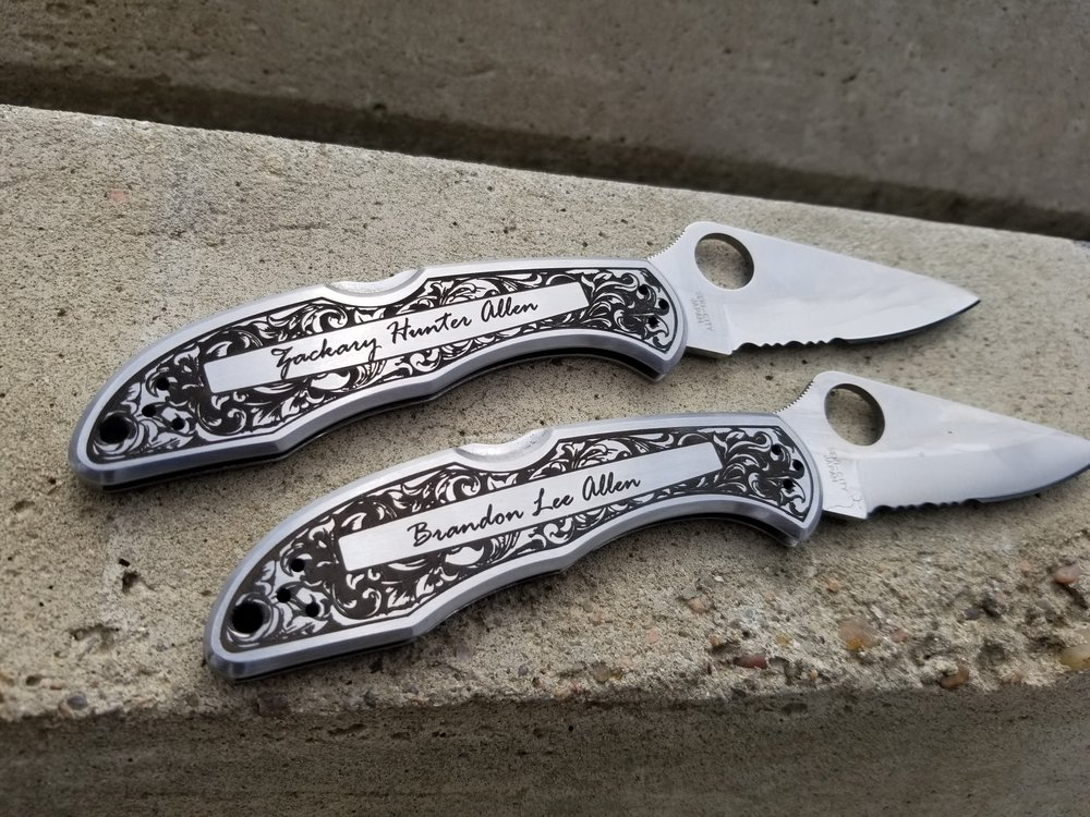Custom Knife Engraving - Personalized Knives - Engraved Knives - Personalized Knives - Knife Engraving - Custom Knife Engraving - Custom Knife Personalization - Engrave It Houston