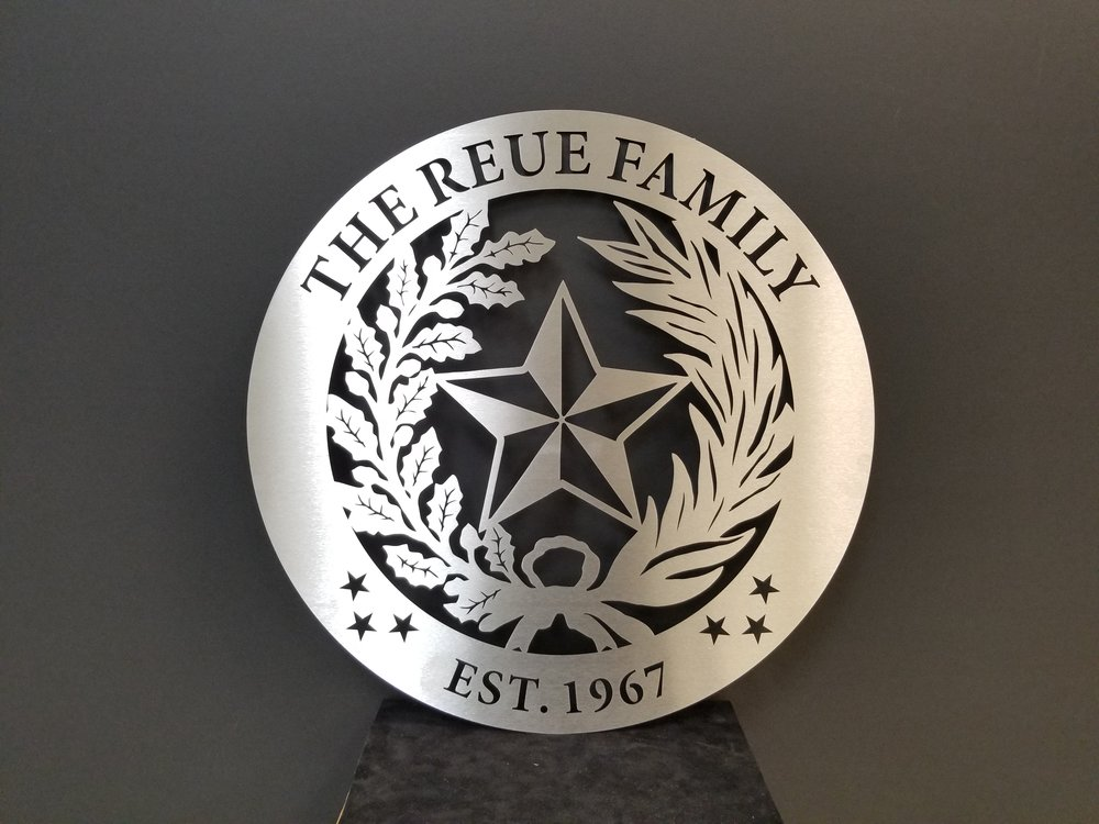 Custom Laser Cut Stainless Steel Sign - Stainless Steel Signage - Custom Signage - Laser Cut Sign - Laser Cut Stainless Steel - Custom Stainless Steel Sign - Engrave It Houston