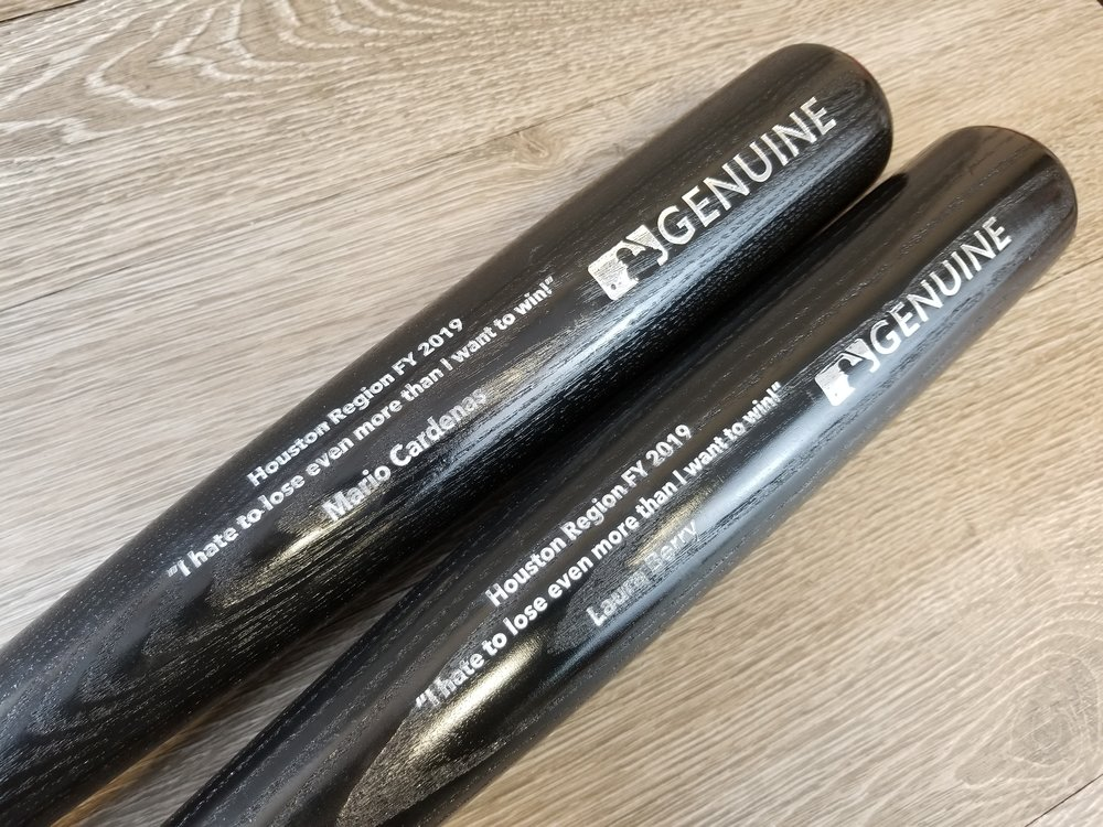 Branded Baseball Bats - Engraved Baseball Bats - Employee Gifts - Custom Awards - Custom Gifts - Engrave It Houston