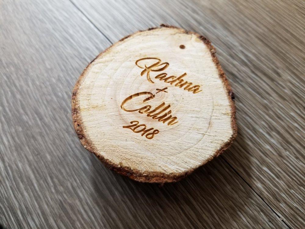 Custom Wood Engraving - Custom Wood Burning - Custom Pyrography - Personalized Ornament - Custom Ornament - Engrave It Houston