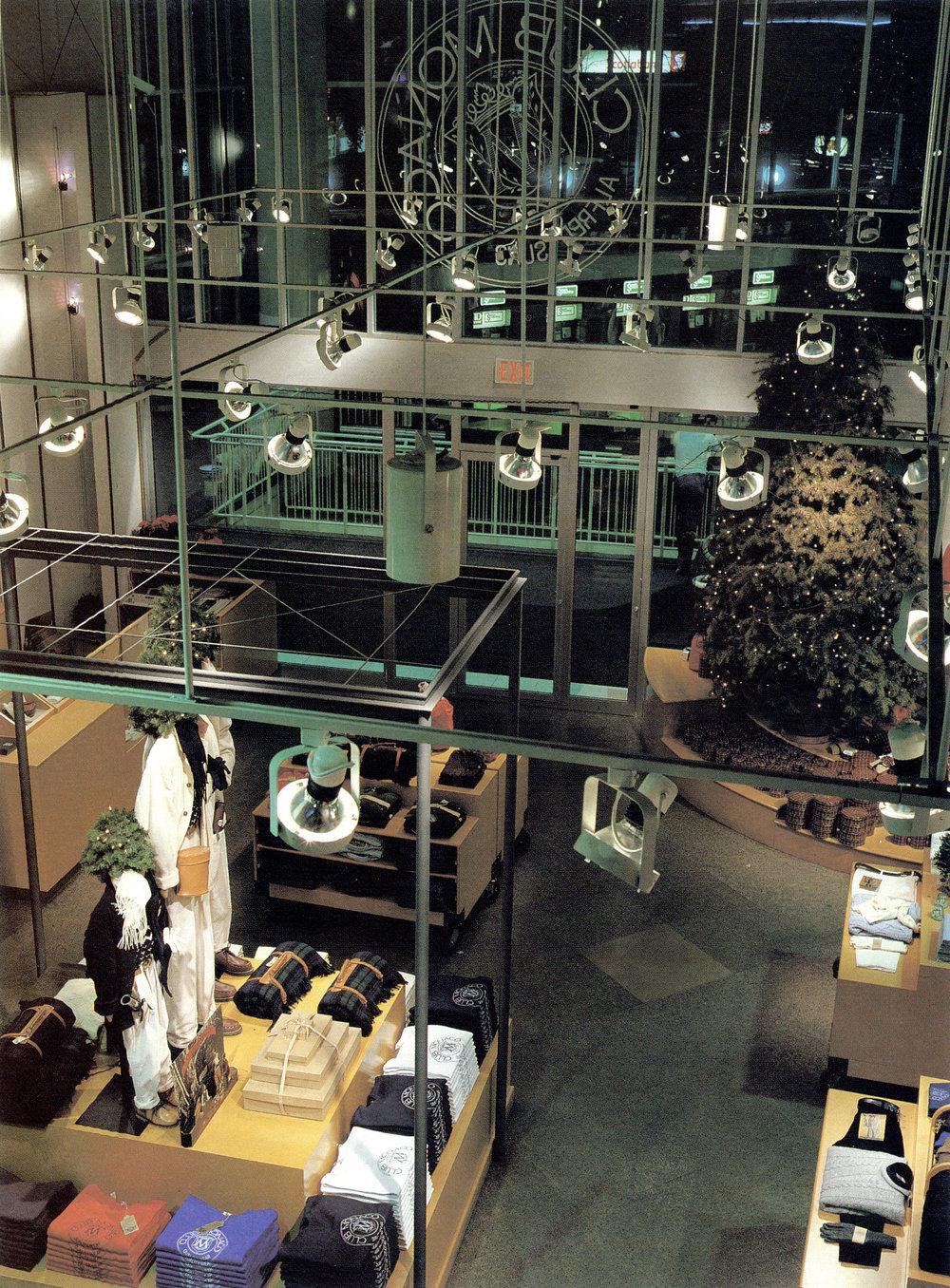 Holiday 1985 inside the Eaton Center Club Monaco store.