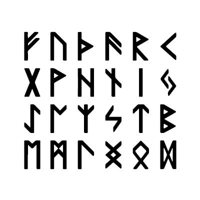 Based on the ancient runes of Norse culture -
